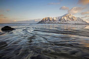 Skagsanden op de Lofoten van Antwan Janssen
