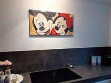 Photo de nos clients: Mickey and Minnie Mouse «In Love» sur Kathleen Artist Fine Art, sur toile