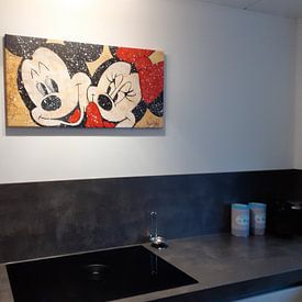 """Kundenfoto: Mickey und Minnie Maus """"Verliebt von Kathleen Artist Fine Art, auf leinwand"""