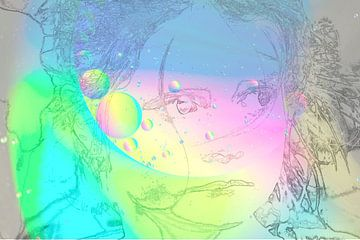 Gekleurd gezicht van Ans Bastiaanssen