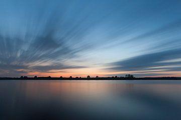 Laatste licht over Nederland van Ron van Elst