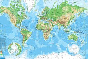 Wereldkaart, zoals je hem op school had