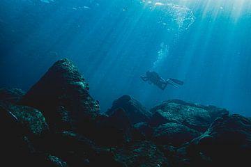 Plongée Indonésie rayons lumineux sur Marco Vet