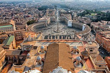 Rome - Vaticaanstad met Sint-Pietersplein van Jan Sportel Photography