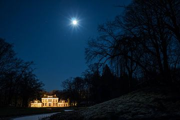Volle maan boven Stania State van Chiel Hoekstra