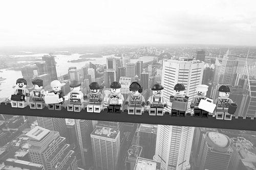 Lunch atop a skyscraper Lego edition - Sydney van