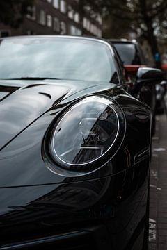 Schwarzes Porsche 911 Cabrio von Koen Verburg