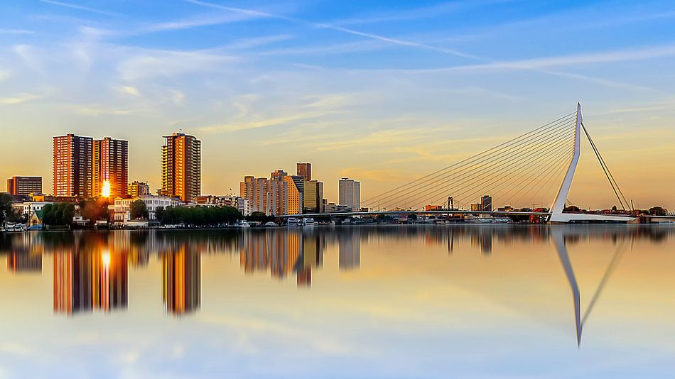 Zonsondergang Rotterdam von Ralf Linckens