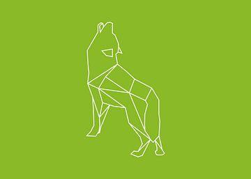 Wolf - Grafische dieren van Dieuwertje en Kevin van der Linden - Meijer