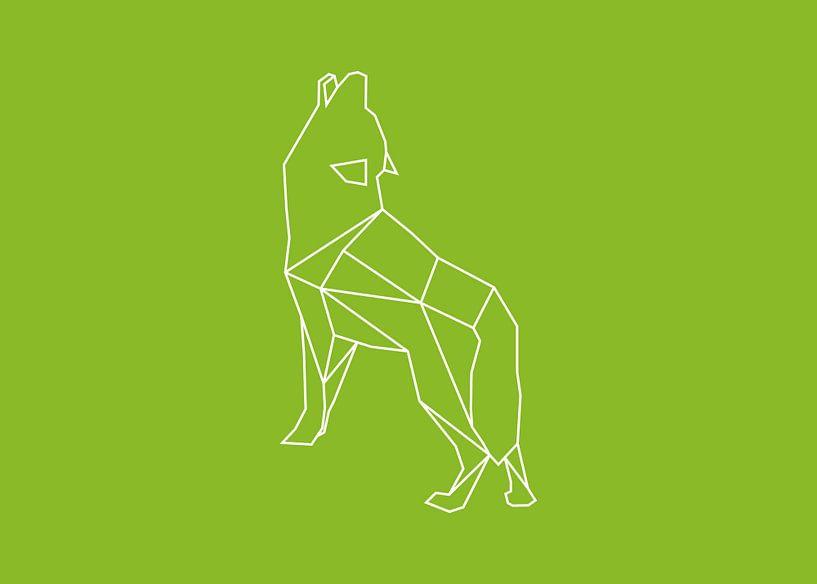Wolf - Grafische Tiere von Dieuwertje en Kevin van der Linden - Meijer