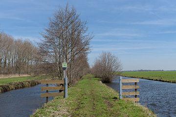Wanderweg nahe dem Krähenwald in Alblasserwaard von Beeldbank Alblasserwaard