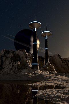 Towers on Moon van Jörg Hausmann