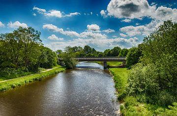 De Vechtesee met brug in Duitsland van Jaap Mulder