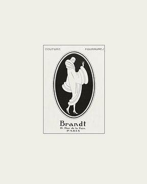 Brandt | Historische Art Deco Modeanzeige | Minimalistisch und modern von NOONY