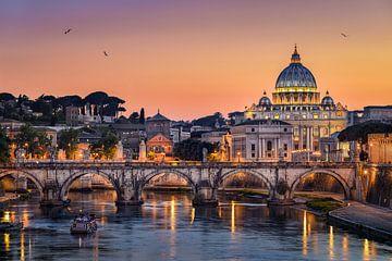 Coucher de soleil à Rome sur Michael Abid