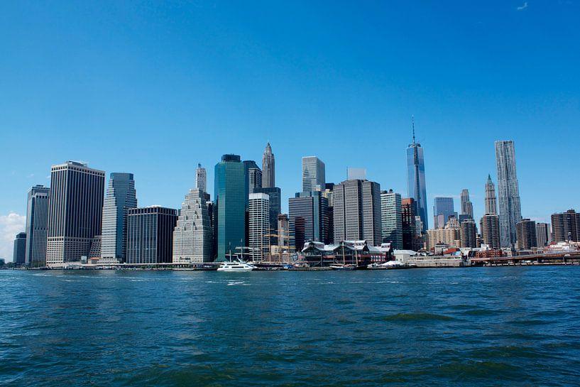 Manhattan Skyline  van Menno Heijboer