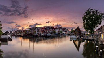 Sunset over Leiden von Kees Jan Lok