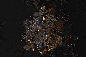 Kaart van Apeldoorn abstract von Stef Verdonk