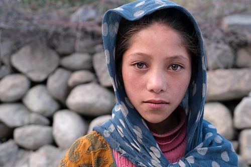 Meisje uit Turtuk, Ladakh, India