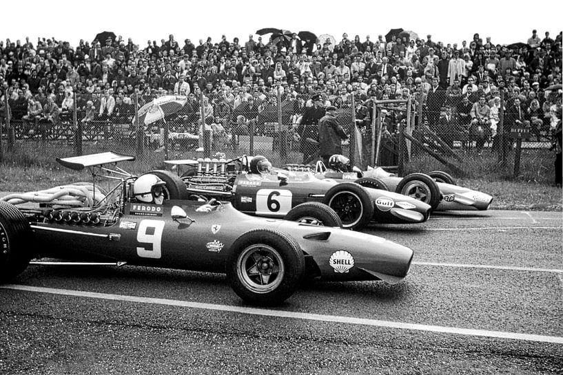 1e Startrij Grand Prix 1968 Zandvoort van Harry Hadders