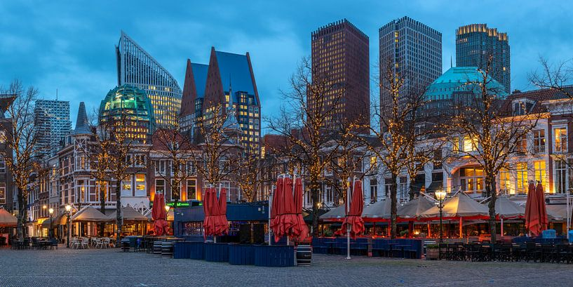 Megagrote foto van skyline van Den Haag (1) von Rob IJsselstein