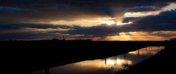 Panorama Sunset van Dennis Claessens
