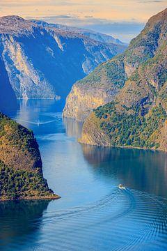 Aurlandsfjord, Norvège sur Henk Meijer Photography