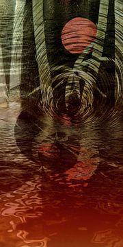 Bloodmoon in de bamboe van Christine Nöhmeier