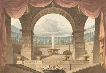 Bühnenbild für die Oper 'Armida', Friedrich Jügel, nach Karl Friedrich Schinkel