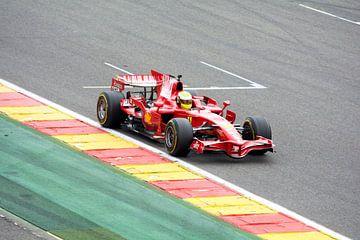 Ferrari F1 F2008 op circuit Spa Francorchamps van