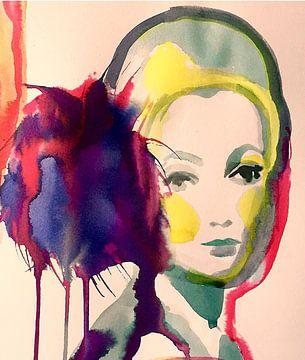 Lila Pom Pom von Helia Tayebi Art