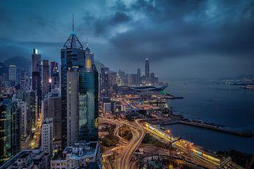 Hong Kong Skyline van Mario Calma