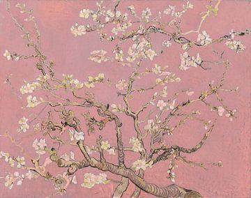 Mandelblüte (pink), Collage nach Vincent van Gogh