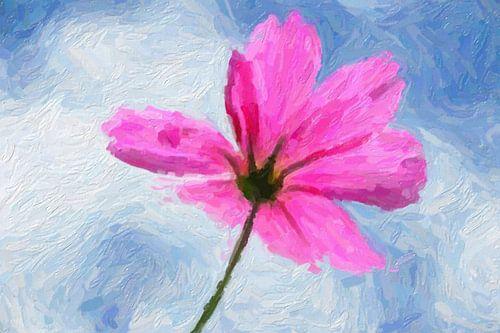 Rosa Blume abstrakt