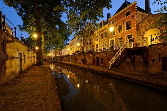 Nieuwegracht in Utrecht tussen Pausdambrug en Paulusbrug