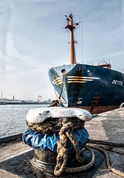 Aangemeerd in de haven van Rotterdam