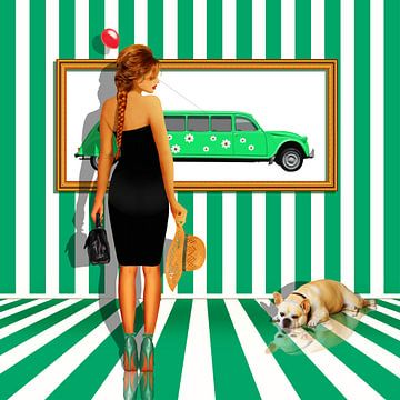 Serie: The Women's Quartet No. 3 groen - wit. van Monika Jüngling