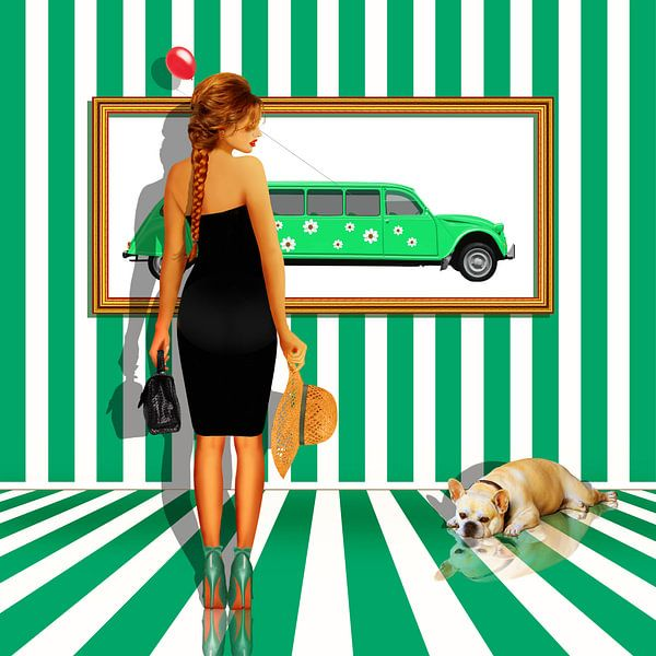 Serie: Das Damenquartett  Nr. 3 Grün - Weiss von Monika Jüngling