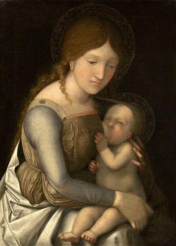 Madonna mit Kind, Kreis von Andrea Mantegna (möglicherweise Correggio)