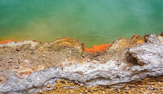Rotorua - abstract, Nieuw Zeeland van Rietje Bulthuis
