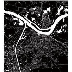 Nijmegen | Plan de la ville en noir et blanc sur Wereldkaarten.Shop