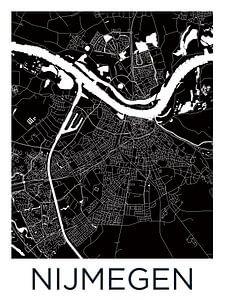 Nijmegen   Stadskaart Zwartwit