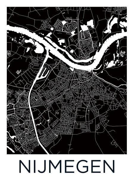 Nijmegen | Stadskaart Zwartwit van Wereldkaarten.Shop