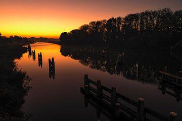 Sonnenaufgang Lemmer von Martien Hoogebeen Fotografie