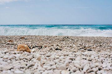 Ruige zee in Griekenland, Kevalonia van Jason King