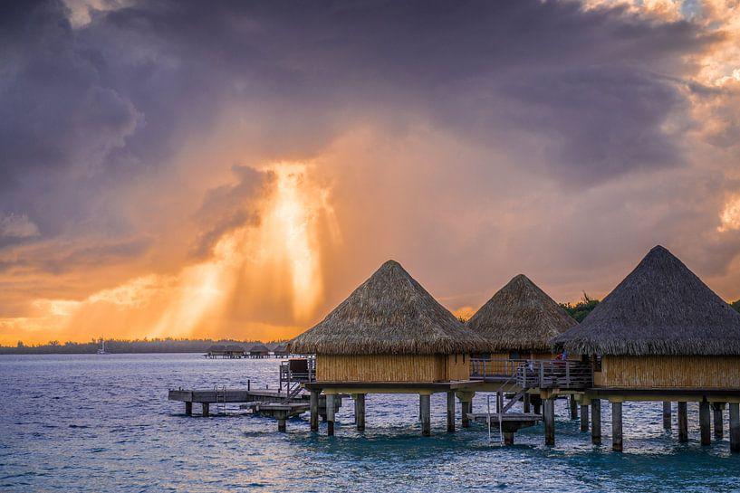 Zonsopkomst Bora Bora van Ralf van de Veerdonk