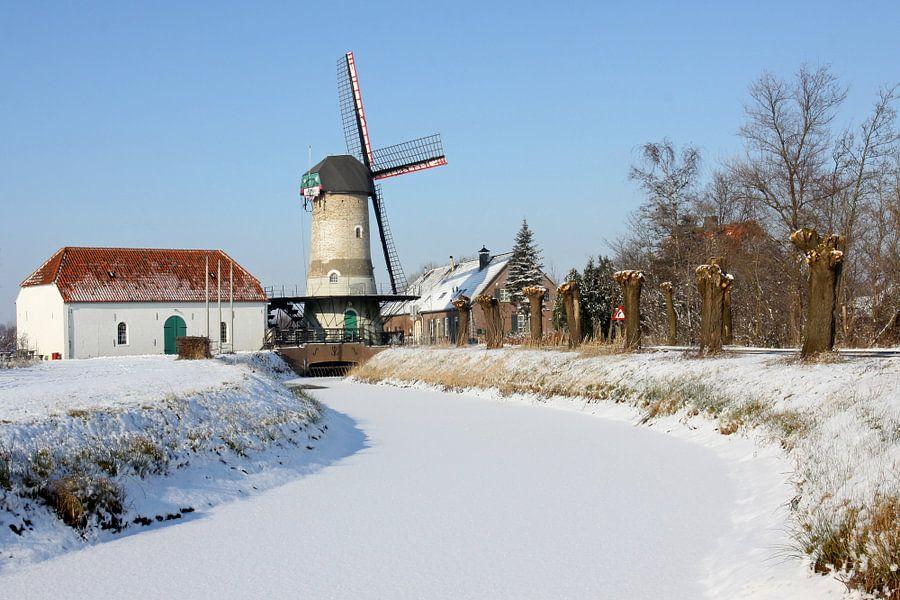 Kildonkse molen in de sneeuw