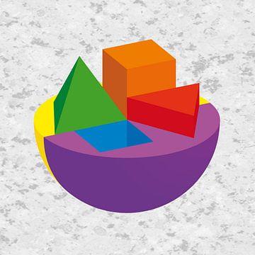 Kleurencirkel3D van Marc Otte