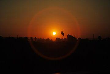 Zonsondergang in Egypte van Bram Monsieurs