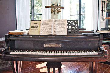 Klavier in Anwesen Oosterhouw in Leens, Groningen von Annie Postma